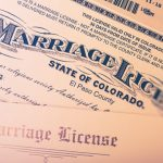 picture of a marriage license