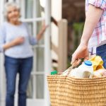 home care aid bringing back groceries