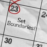 Calendar day marked to Set Boundaries