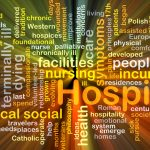 The word hospice surrounded by words that define the concept
