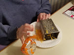 Woman grating cheese