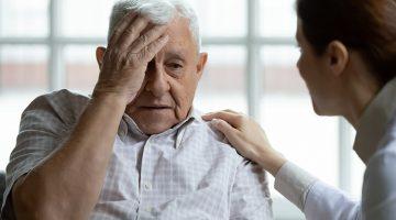 social worker listens elder complains