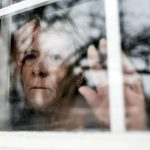 show a woman grieving