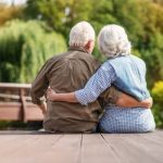 older man and woman keeping independent